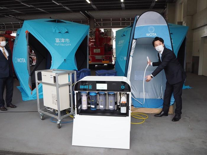 災害時に水循環式でシャワー可能! 千葉・富津市が住民向けシステム導入
