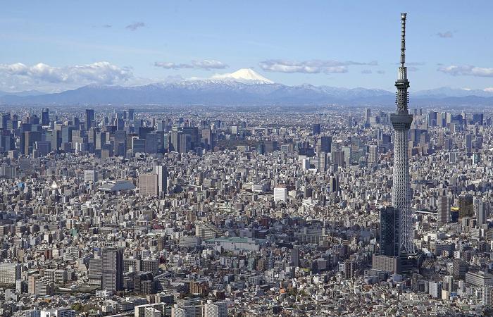 住宅が密集する東京