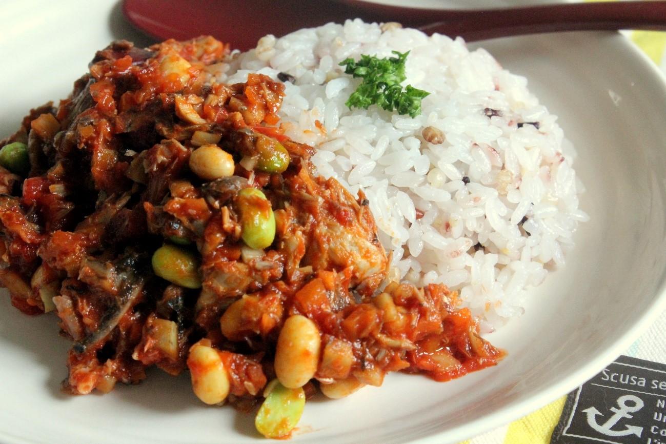サバの豆カレー